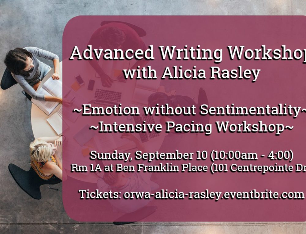 Advanced Writing Workshop with Alicia Rasley